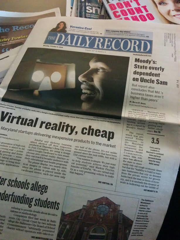 Congrats to Markus Proctor, Who was Featured in The Daily Record!